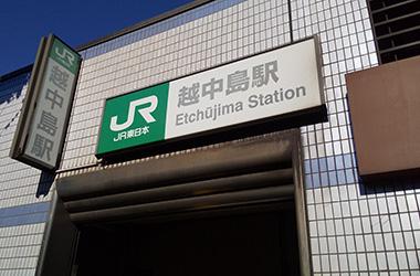 JR越中島駅からのルート1