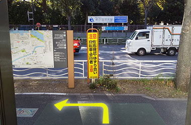 JR越中島駅からのルート2
