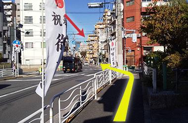 JR越中島駅からのルート4